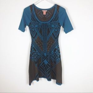 Flying Tomato tribal print knit dress size S